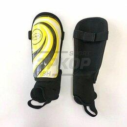 Спортивная защита - Щитки футбольные Ronin с голеностопом чёрно-жёлт юниор (х3), 0