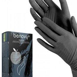 Устройства, приборы и аксессуары для здоровья - Перчатки нитриловые медиок черные s, 0