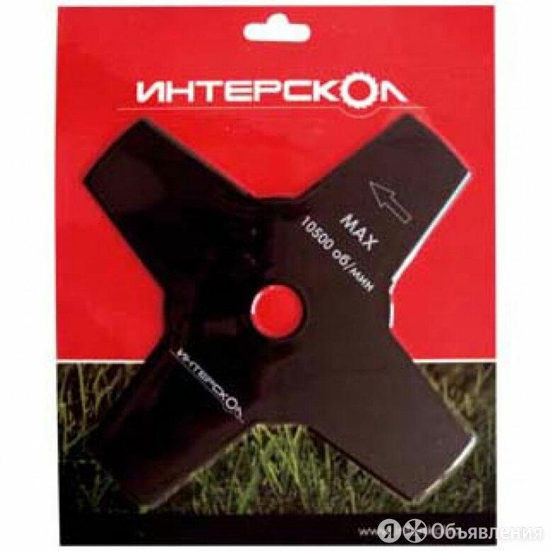 """Нож четырёхлепестковый Интерскол """"2140923000140"""" для триммера по цене 230₽ - Монтажные ножи, фото 0"""