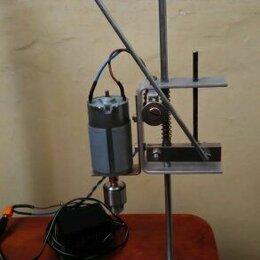 Наборы электроинструмента - Мини сверлильный станок с двигателем  12 -24 вольт, 0