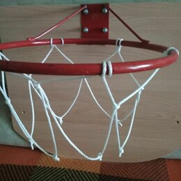 Мячи - Кольцо с сеткой и щитком для баскетбола, 0