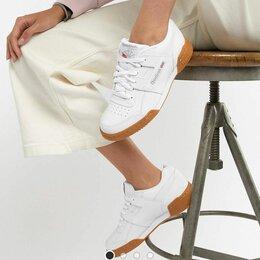 Кроссовки и кеды - Белые кожаные кроссовки Reebok Workout кеды 37-6 р, 0