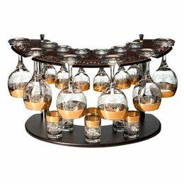 Бокалы и стаканы - Мини-бар: подставка + 6 фужеров 160 мл + 6 стопок + 6 рюмок., 0