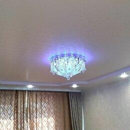 Архитектура, строительство и ремонт - Натяжные потолки сатиновые с точечными светильниками, 0