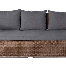 Диваны - Трехместный диван из ротанга Капучино (коричневый), 0