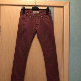 Джинсы - На 42 размер 160 рост Topman джинсы, цвет марсала, 0