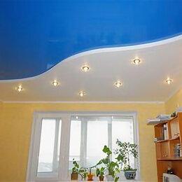 Потолки и комплектующие - Натяжной потолок глянцевый с установкой и профилем, 0