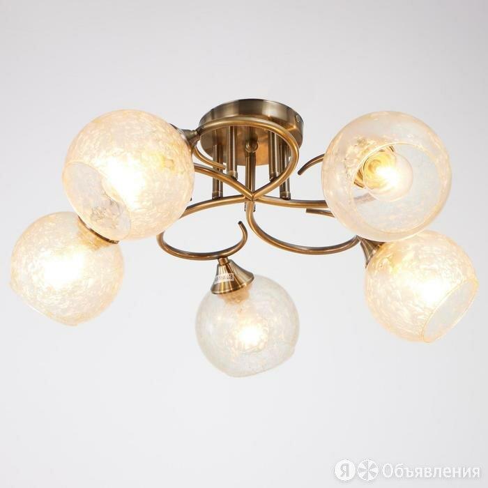 Люстра 00501/5 5х60Вт Е27, бронза, 57х25 см по цене 4575₽ - Люстры и потолочные светильники, фото 0