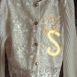 Блузки и кофточки - Блузка с вышивкой цветочки белая, 0