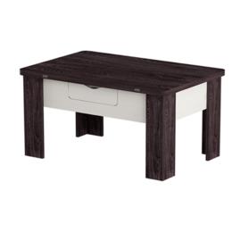"""Столы и столики - Стол-трансформер """"Стэп 3"""" ясень черный/ бодега белый, 0"""
