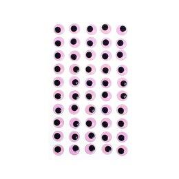 Средства для интимной гигиены - Глазки на клеевой основе, набор 60 шт, размер 1 шт: 1,2 см , цвет фиолетовый, 0