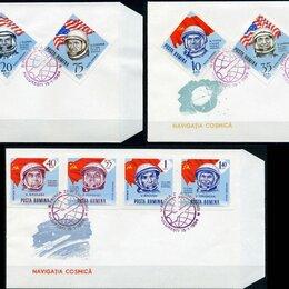Конверты и почтовые карточки - Космонавты СССР и США (КПД б/з). Румыния 1964 г., 0