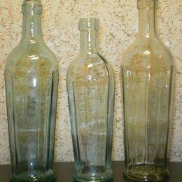 Этикетки, бутылки и пробки - Старинные граненые бутылки., 0
