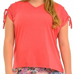 Блузки и кофточки - Блузка  коралловая 54-70, 0
