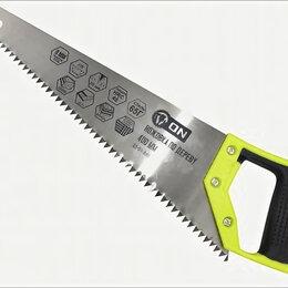 Пилы, ножовки, лобзики - 3-ON Ножовка по дереву, 2-х сторонняя заточка, закаленный зуб 8 мм, 400 мм, 0..., 0