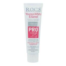 Зубная паста - Зубная паста R.O.C.S. PRO Young   White Enamel для эффекта блеска и белизны,1..., 0