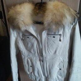 Куртки - Куртка кожаная р.40, 0
