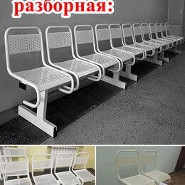 Мебель для учреждений - Скамейка многоместная секция стульев с перфорацией , 0