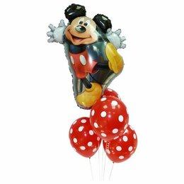 Воздушные шары - Букет шаров с Микки Маусом, 0