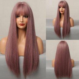 Аксессуары для волос - Парик прямой длинный с челкой, 0
