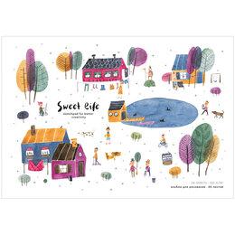 """Рисование - Альбом для рисования 20л., А4, на скрепке Greenwich Line """"Little life. Villag..., 0"""