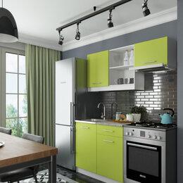 Мебель для кухни - Салатовая кухня на сером полу, 0