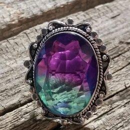 Кольца и перстни - Коктейльное кольцо с арбузным турмалином, 0