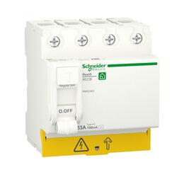 Концевые, позиционные и шарнирные выключатели - SE RESI9 Выключатель дифференциального тока (УЗО) 63А 4P 100мА тип AC, 0