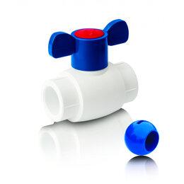 Краны для воды - Шаровой кран Blue Ocean PPRF/BV/PPR/CW-B(W)-25 (шар ABS) бабочка, 0