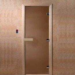 """Двери - Doorwood Дверь стеклянная DoorWood """"Теплая ночь"""" 190х70 (бронза матовое, коро..., 0"""