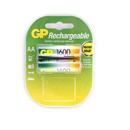 Батарейки - АА Аккумулятор «GP» 1600мАч, 2шт, цена за 1шт, 0