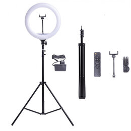 Штативы и моноподы - ZJ155 Кольцевая лампа 36 см со штативом., 0
