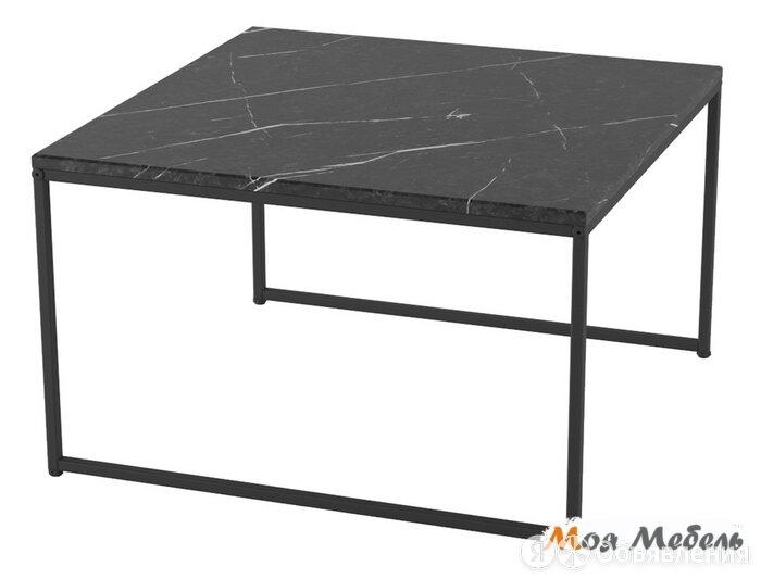 Стол журнальный Овер в цвете Черный мрамор - Черный по цене 7900₽ - Столы и столики, фото 0