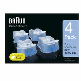 Аксессуары и запчасти - Картридж Braun CCR4 с чистящей жидкостью 4 шт, 0