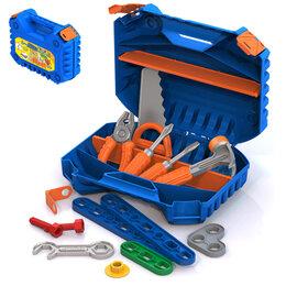 Детские наборы инструментов - Набор инструментов в чемодане, с конструктором из 47 элементов, 0