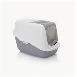 Туалеты и аксессуары  - Туалет-домик NESTOR IMPRESSION, котенок с лентой, серый 56*39*38.5см, 0
