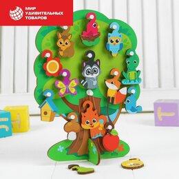 Развивающие игрушки - Развивающая игрушка с крючками «Лесное дерево» , 0