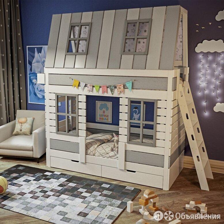 Двухъярусная кровать домик по цене 55900₽ - Кроватки, фото 0