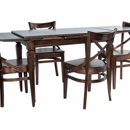 Столы и столики - Обеденная группа - Греция стол + 4 стула Соло Венский жесткий, 0
