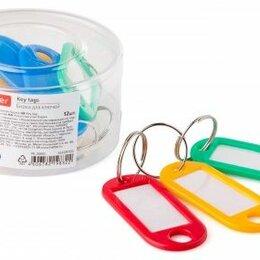 Брелоки и ключницы - Брелок д/ключей  Hatber 22*50мм, 12шт/уп, цветные в боксе, 0
