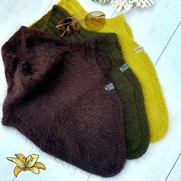 Шарфы, платки и воротники - Шапка ,манишка ,повязки пух норки спицами, 0