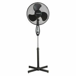Вентиляторы - Вентилятор напольный SONNEN  d=40 см, 45 Вт, 3 скоростных режима, таймер, черный, 0