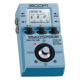 Процессоры и педали эффектов - Zoom Multi Stomp MS-70 CDR мульти-педаль эффектов для электрогитары, 0