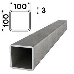 Металлопрокат - Труба профильная 100х100мм стенка 3мм длина 12 метров (рез кратно 1м), 0