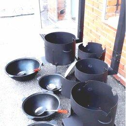 Печи для казанов - Kазaн чугунный 12л + печь с трубой, 0