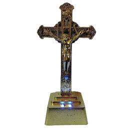 Дизайн, изготовление и реставрация товаров - Сувенир Иисус крест с подсветкой 2780 23см, 0