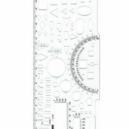 Военные вещи - Линейка  Офицерская (командирская)  20см, Стамм б/цв, 65 тактических элементов (, 0