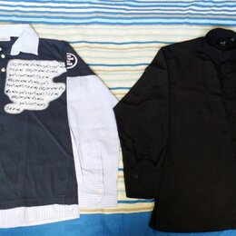 Рубашки - Рубашки мужские новые хлопок и шелк р.46-50, 0