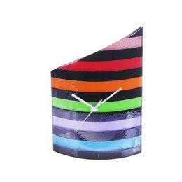 """Часы настольные и каминные - Carneol Kft Часы настольные """"Разноцветные полосы"""", 0"""