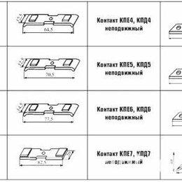 Пускатели, контакторы и аксессуары - Контакт КПЕ4, КПД4, КПЕ5, КПД5, КПЕ6, КПД6 КПЕ7, КПД 7, 0